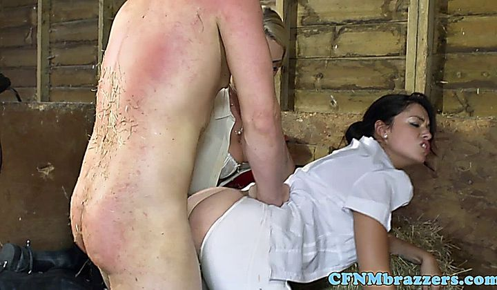 Hot Stable Girl Ava Dalush And Pal Cfnm