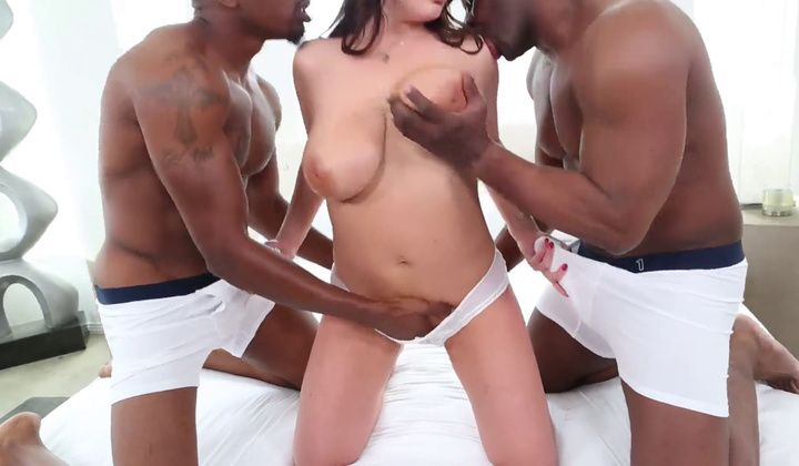 Hot Babe Angela White Fucked By Two Black Guys